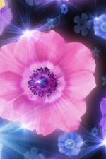 Preview iPhone wallpaper Colorful anemone flowers