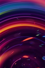 Preview iPhone wallpaper Colorful circles, abstract