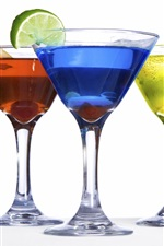 Preview iPhone wallpaper Colorful cocktails drinks