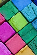 Preview iPhone wallpaper Colorful cubes, abstract art