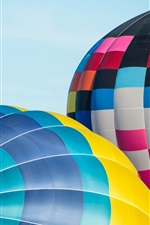 Preview iPhone wallpaper Colorful hot air balloon, sky