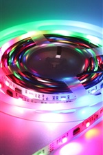 Preview iPhone wallpaper Colorful led lights, strip, tape