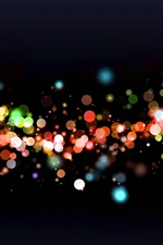 Colorful light, abstract, black background
