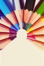 Preview iPhone wallpaper Colorful pencils, semicircle