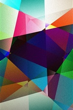 Colorful shape, abstract