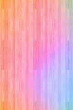 Preview iPhone wallpaper Colorful wood background, abstract design