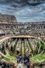 Preview iPhone wallpaper Colosseum, Rome, Italy, ruins, tourists, tour
