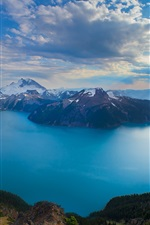 Preview iPhone wallpaper Columbia, Canada, nature, mountains, lake