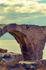 Cyprus, sea, curio, ruins, clouds