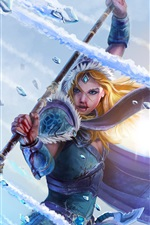 Preview iPhone wallpaper DOTA 2, Crystal maiden, girl, warrior