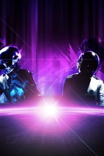 Preview iPhone wallpaper Daft Punk, music band