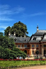 Preview iPhone wallpaper Dresden, Pillnitz Castle, trees, blue sky, Germany