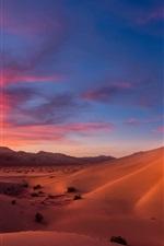 Preview iPhone wallpaper Dunes, desert, sand, sky, clouds, dusk