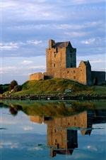 Preview iPhone wallpaper Dunguaire Castle, Ireland, lake, water reflection