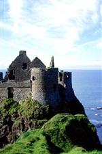 미리보기 iPhone 배경 화면 던스 성, 아일랜드, 바다, 해안