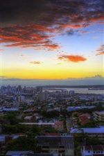Preview iPhone wallpaper Durban, South Africa, city, dusk, sunset