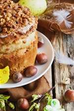 Preview iPhone wallpaper Easter, cake, nuts, eggs
