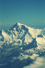 Preview iPhone wallpaper Everest Mountain top views