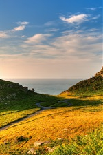 Preview iPhone wallpaper Exmoor National Park, grass, nature landscape