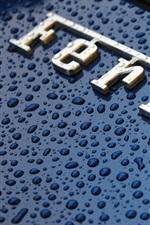 Ferrari Logo, gotas de água