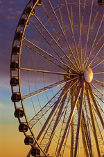 Preview iPhone wallpaper Ferris wheel, evening, dusk