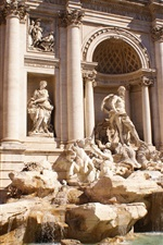 Preview iPhone wallpaper Fontana di Trevi, Italy, statue, buildings