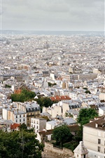 Preview iPhone wallpaper France, Paris, city views, roofs, houses