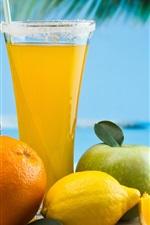 미리보기 iPhone 배경 화면 과일 음료, 칵테일, 오렌지, 레몬, 사과