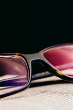 Preview iPhone wallpaper Glasses and book