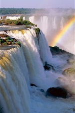 Preview iPhone wallpaper Iguazu Falls, rainbow, Argentina