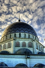 Preview iPhone wallpaper Islam mosque, buildings, clouds, sky