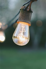 Preview iPhone wallpaper Lamp, electricity, bokeh