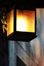 Preview iPhone wallpaper Lantern warm light, night