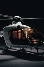 Preview iPhone wallpaper Little helicopter, black background