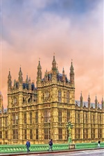 Preview iPhone wallpaper London, Big Ben, tower, street, houses, UK