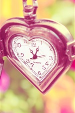 Preview iPhone wallpaper Love heart watch