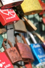Preview iPhone wallpaper Love locks, fence
