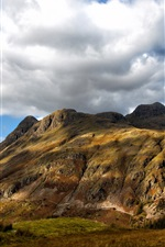 Preview iPhone wallpaper Mountain, clouds, blue sky, Cumbria, England