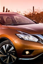 Preview iPhone wallpaper Nissan Murano golden SUV car