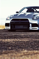 Preview iPhone wallpaper Nissan R35 silver car