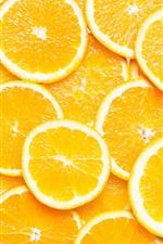 iPhone fondos de pantalla Rebanadas de naranja, fotografía macro de frutas