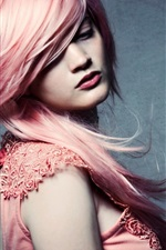 Preview iPhone wallpaper Pink hair fashion girl
