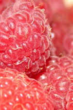 Preview iPhone wallpaper Raspberries, red, berries macro photography
