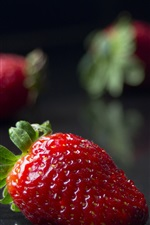 Preview iPhone wallpaper Ripe strawberries, juicy fruit