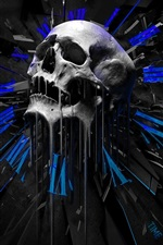 Preview iPhone wallpaper Skull, creative design