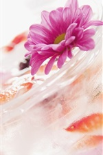 미리보기 iPhone 배경 화면 여름 음료, 칵테일, 얼음, 꽃, 유리 컵