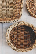 Wicker baskets, handicrafts