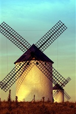 Windmills, buildings