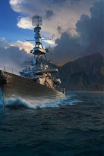 Preview iPhone wallpaper World of Warships, games HD