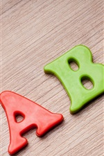 Preview iPhone wallpaper ABC candy, red green and yellow